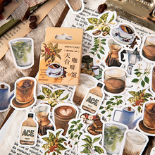 46Pcs/Box Momo vintage Rooftop Coffee sho paper sticker decoration DIY ablum diary scrapbooking label sticker kawaii stationery