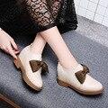 Женская водонепроницаемая обувь на платформе, с круглым носком, на квадратном каблуке, модная обувь, украшенная бантом, однотонная обувь с н...