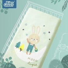 BabyGreat/простыни для новорожденных; мягкие матрацы для малышей; приятные для кожи; с рисунком; Детские простыни; постельные принадлежности