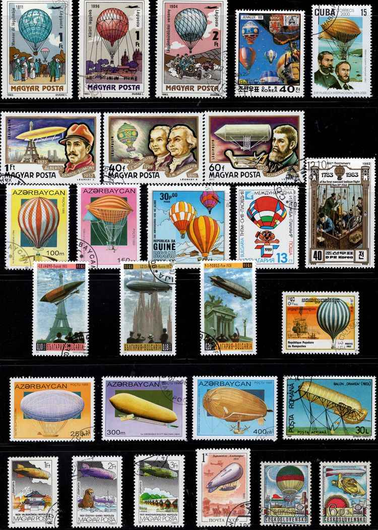 50 יח'\חבילה בלון זפלין ספינת אוויר חותמת כל שונה ממדינות רבות אין חוזר בולי דואר עם הודעה סימן איסוף