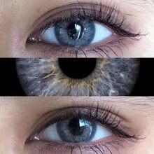 2pcs dna taylor série colorido lentes de contato olho lentes de contato naturais azul cinza cor lente de contato para olho uyaai