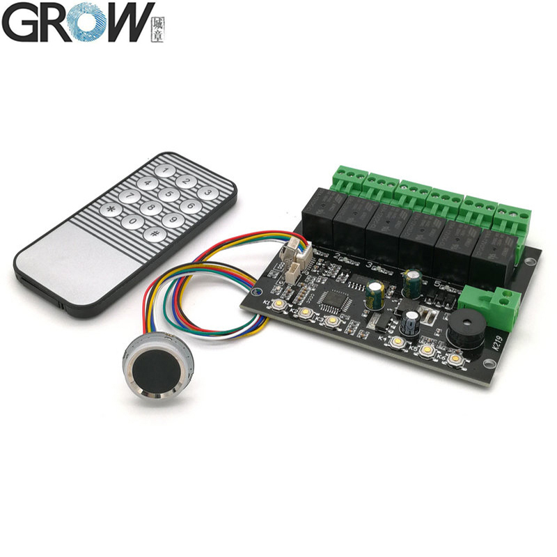 GROW K219-A+R502-A Programmable Time Relay Fingerprint Infrared Remote Control Board