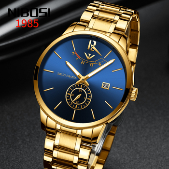 NIBOSI Top Luxury Brand Mens Watches Fashion Casual Quartz Watch Man Waterproof Sport Military Stainless Steel Relogio Masculino top brand luxury casual lady quartz watch stainless steel strap wrist watches classic clock relogio masculino for womens girls