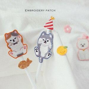 3 шт. в одном наборе вышитые нашивки для одежды с изображением собаки, кошки, медведя, сумки для поделок, аппликация для вышивки, нашивки для о...