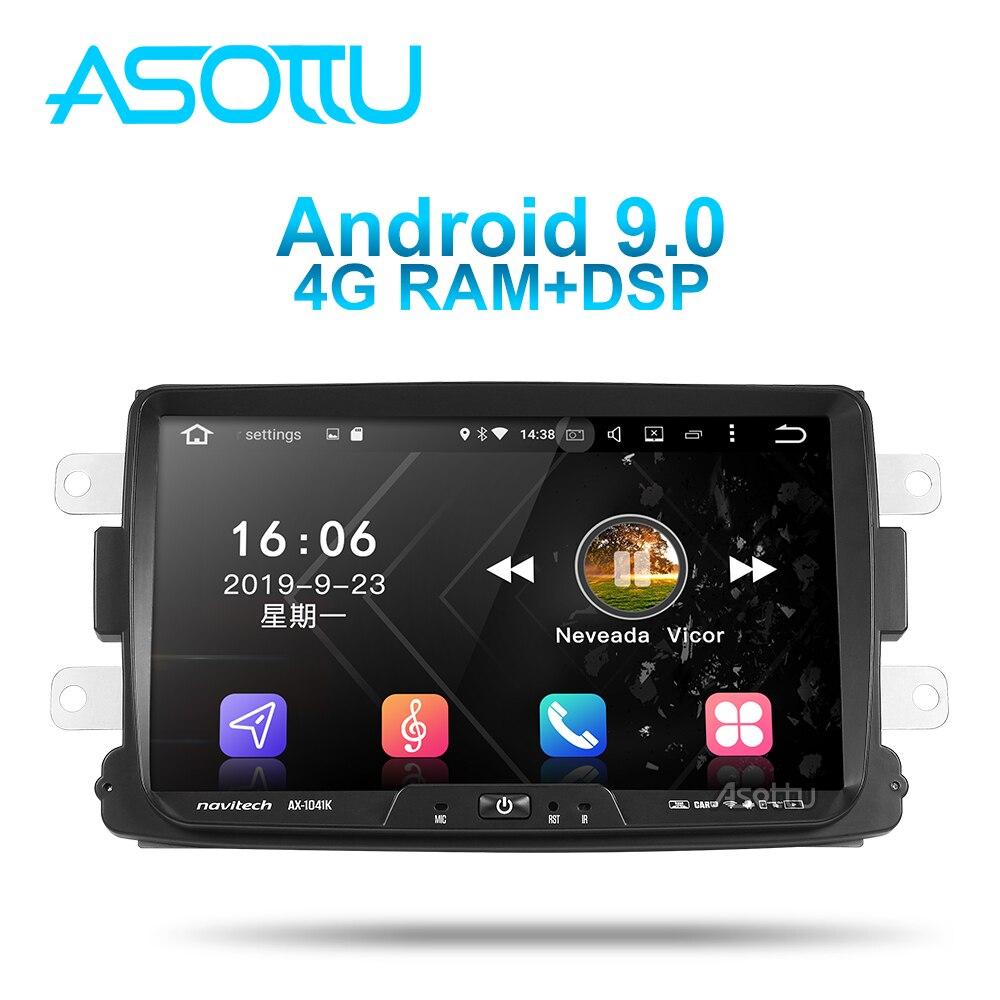 Asottu da601 android 9.0 px6 carro dvd para dacia/sandero/espanador/renault/captur/lada/xray 2/logan navegação carro gps player