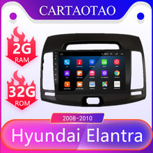 2 Din 9 inches For Hyundai Elantra 2.5D HD 2008-2010 Car Radio Multimedia Video Player Navigation GPS Android 8.1 Car navigation(China)