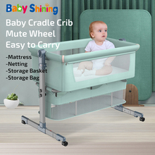 Baby Shining Baby Crib Cradle Newborn Movable Portable Nest Crib Baby Travel Bed Game Bed with Mosquito Net Sleeping Bed Tiktok