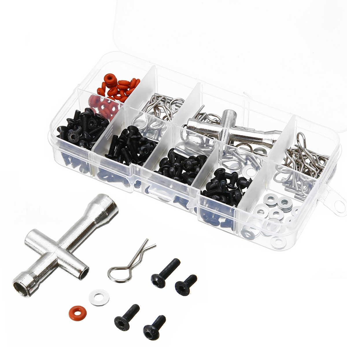 270 pçs ferramenta de reparo parafusos variedade kit caixa de parafuso mayitr para 1/10 hsp rc acessórios do carro