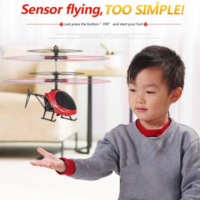 Mini RC Induction Aircraft Flashing Light Toys RC Airplanes Intelligent Hand Induction Remote Control Airplane Toy 2