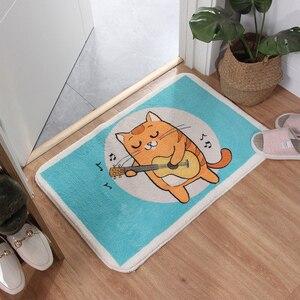 Image 3 - Cartoon Blue whale Shaggy Doormat Anti skid Latex Bottom  Machine Wash Bathroom Kitchen Rug Carpet Indoor Entrance Floor Mat