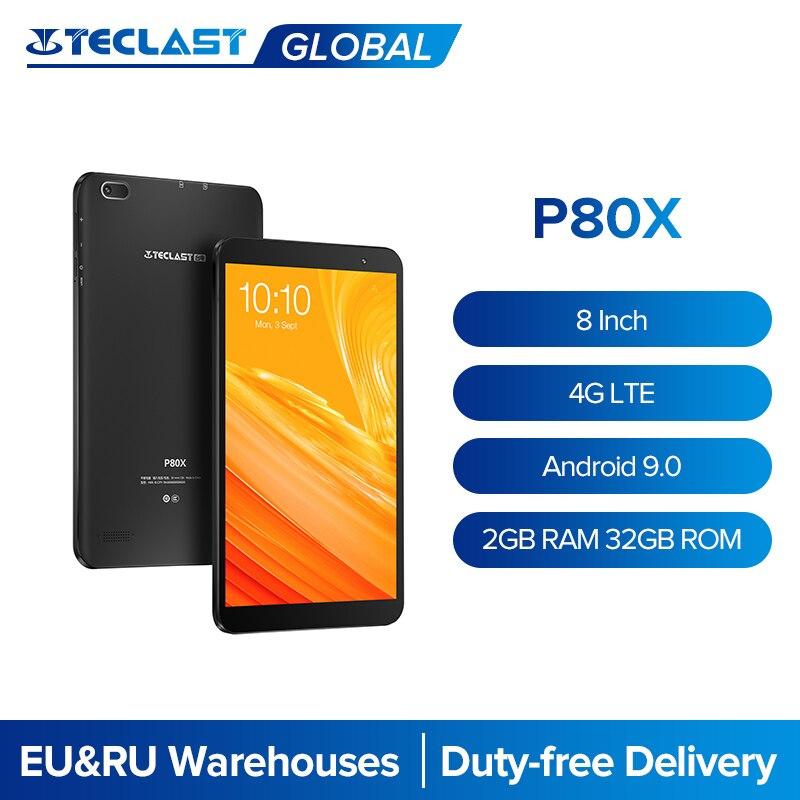 Teclast – tablette PC de 8 pouces P80X, avec 4G LTE, Octa Core SC9863A, Android 9.0, 1280x800 IPS, 2 go de RAM, 32 go de ROM, double caméra, GPS