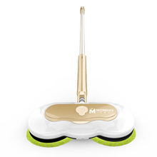 60W Electric Mop Home Automatic Intelligent Wireless Charging with Water Tank Handheld Wiper Gold