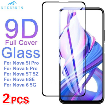 Перейти на Алиэкспресс и купить 2 шт закаленное стекло для Huawei Nova 6SE Nova 5z защита экрана на Nova 5T 4e 3e 3i 2i стеклянная пленка на Nova 6 5G 5i Pro P30 стекло