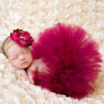 Niemowlę dekoracyjne nakrycie głowy dla dziecka kwiat noworodka spódnica Tutu małe dziewczynki zdjęcie rekwizytu stroje oszałamiające zdjęcie Prop tanie i dobre opinie Na co dzień CN (pochodzenie) CZTERY PORY ROKU dla dziewczynek 4-6y POLIESTER Stałe baby