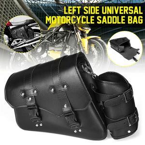 Universal Motorcycle Saddle Bag Left Side Motorcycle Waterproof PU Leather Saddle Bag Luggage Pannier &Fuel Bottle Wholesales