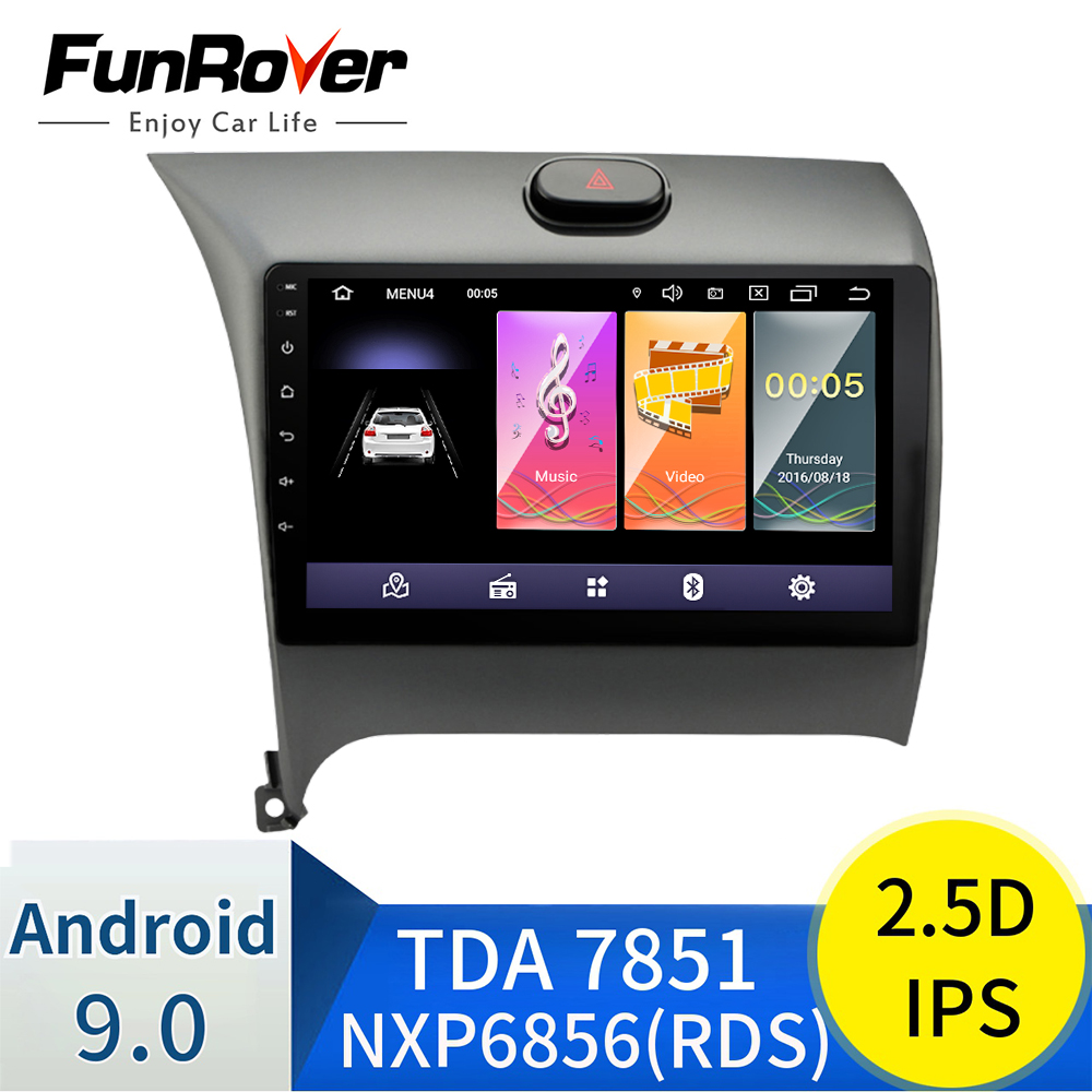 Funrover 2.5D + IPS Auto Radio Multimedia Player Android 9.0 auto DVD für <font><b>Kia</b></font> CERATO <font><b>K3</b></font> FORTE 2013 2014 2015 <font><b>2016</b></font> gps navigation RDS image