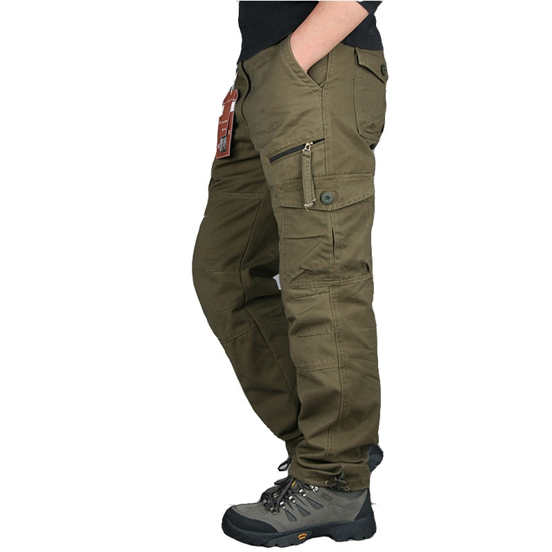 Men Trousers Pantalon Army-Pants Spring Cargo Plus-Size Streetwe Straight Casual Autumn title=