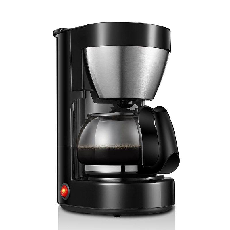 650ml Electric Drip Coffee Maker with High-Density Filter and Non-Stick Coated Warming Plate