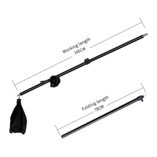 Photo Studio Kit Light Stand Cross Arm With Weight Bag Accessories Extension Rod 75 -135CM