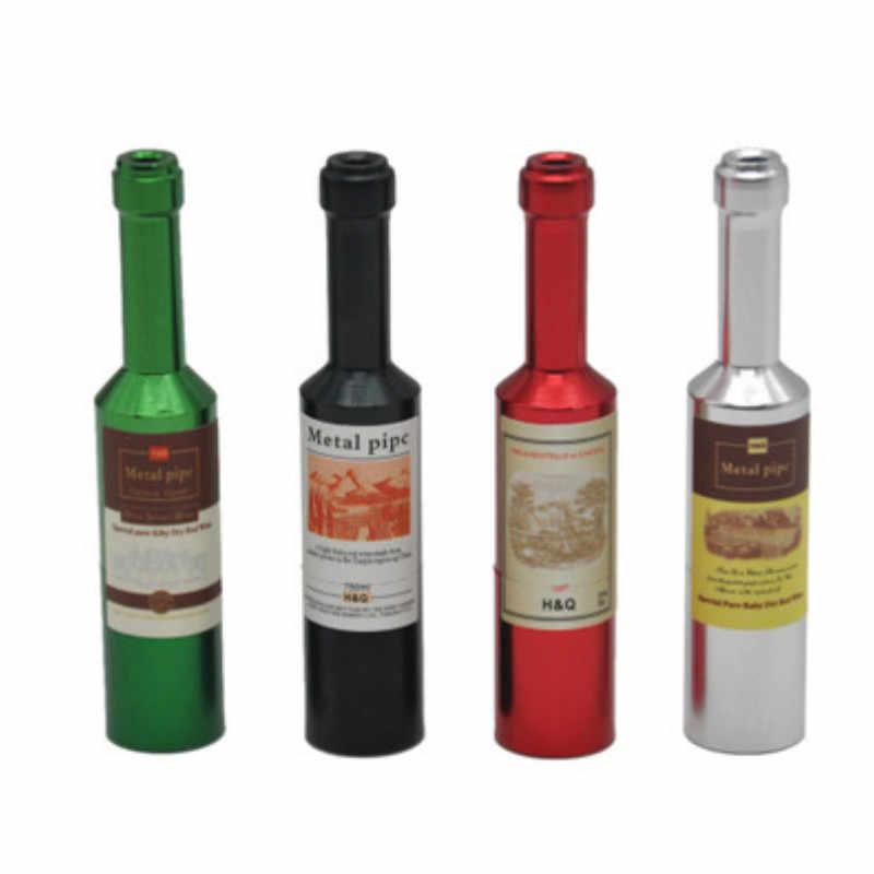 Colorful Piccola Tasca Bottiglia di Birra di Tipo Tubo di Tabacco di Alluminio Della Novità Mini Metallo Tubo di Fumo Segreto Bottiglia di Birra Fumare La Pipa di Tabacco