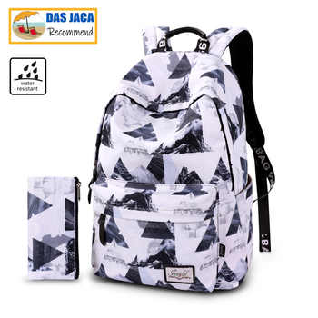 17 18.5inch Casual Water repellent Women Backpack Nylon Travel Back to School bag Student Backpack Teenage Girls Daypack Mochila - DISCOUNT ITEM  44 OFF Luggage & Bags
