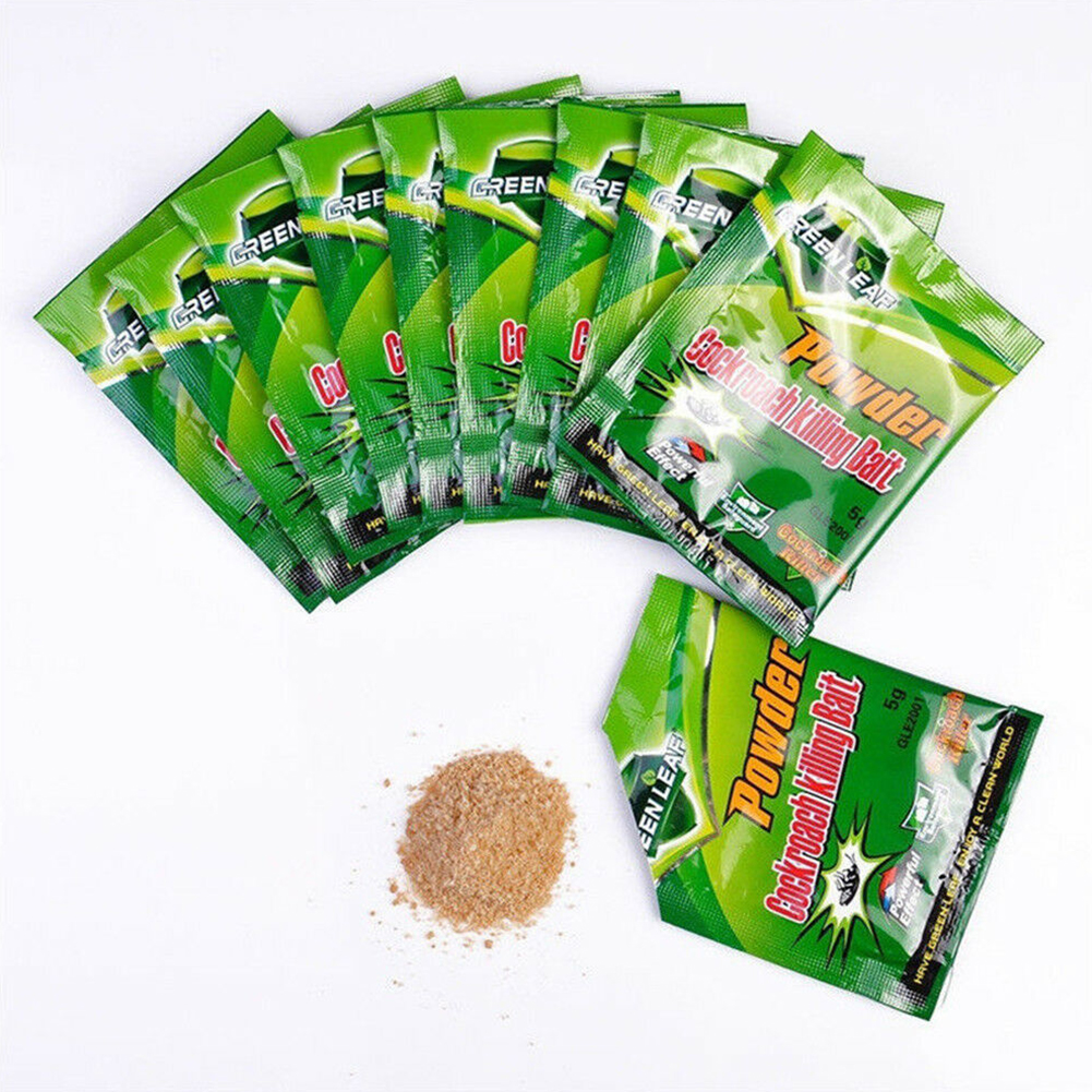 50pcs Cockroach Killing Bait Supplies Pest Control Trap Garden Effective Powder Killer Reject Repeller Roach Home