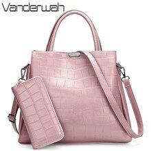 2 комплекта сумочки и сумочки, кожаные роскошные сумки, женские сумки, дизайнерские сумки, высокое качество, большие сумки шопперы для женщин, 2019
