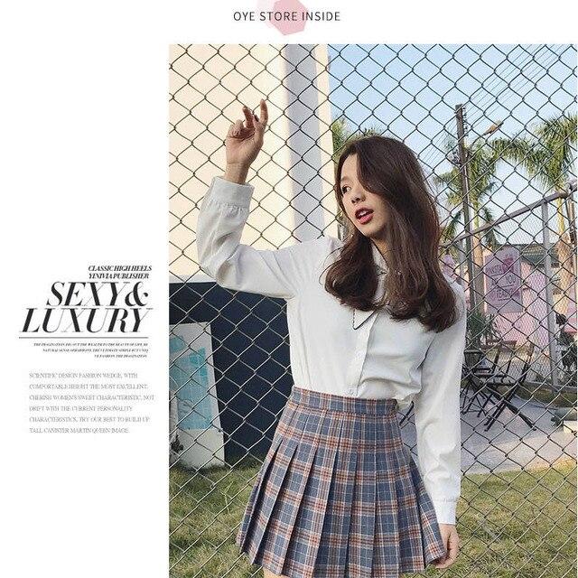XS-2XLWomen Skirt Cute style High Waist Elegant Stitching Skirts Summer student pleated skirt women sweet cute girl dance skirt 2