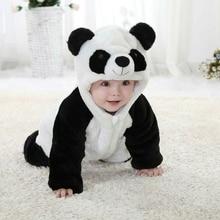 Костюм с пандой, одежда для маленьких девочек, черно-белая Милая Пижама с капюшоном для альпинизма, комбинезон, комплект одежды для маленьких мальчиков