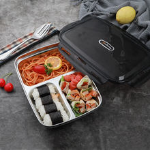 Restaurant lunch box camping bento box childrens school lunch box 304 metal leakproof food container with chopsticks spoon