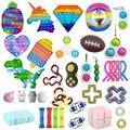 Пуш-Поп Bubble Fidget Toys антистресс набор струн облегчение взрослые дети сенсорные сжимаемые антистресс облегчение антистресс Figet