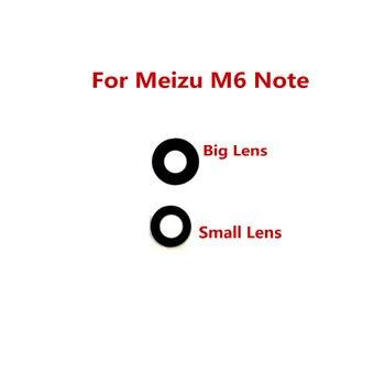 1 Uds para MEIZU m6 note nuevo lente de cristal de cámara posterior piezas de reparación de la cubierta