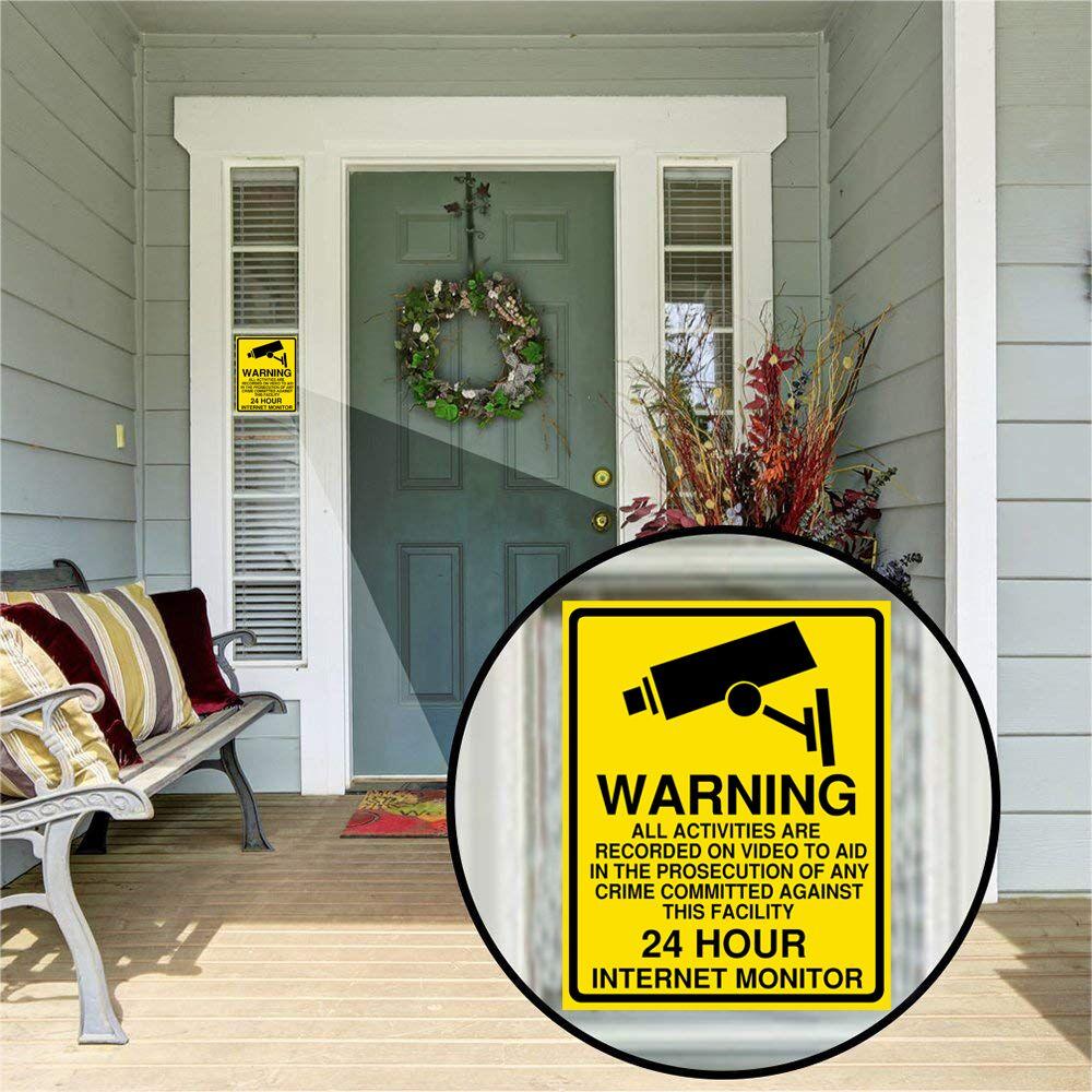 1/5pcs Warning sticker PVC Camera Alarm Sticker Waterproof Sunscreen  Home CCTV Video Surveillance Security  Decal Signs 5