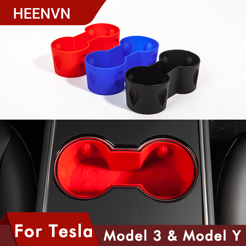 Heenvn Water Cup Holder For Tesla Model 3 Center Accessories Water Proof Car Coasters For Tesla Model Y Car Model3 Three 2020