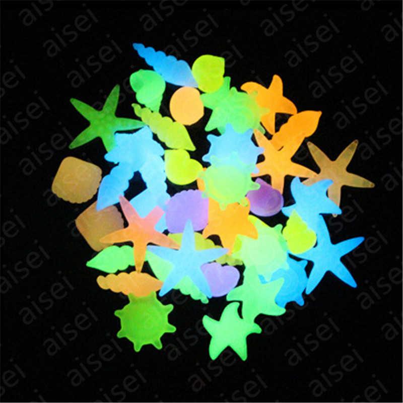 Coquille de conque étoile de mer lumineuse colorée en forme de pierres rougeoyantes décoratives pour jardin Aquarium Aquarium piscine paysage