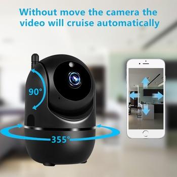 Black Smart Home Security Surveillance 1080P Cloud IP Camera Auto Tracking Network WiFi Camera Wireless CCTV YCC365 PLUS