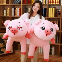 60-100cm Huge Cartoon Angel Pig plush Toys Soft Pig Pillow Cushion Chinese Zodiac Pig Doll for Kids Girl Christmas Gift(China)