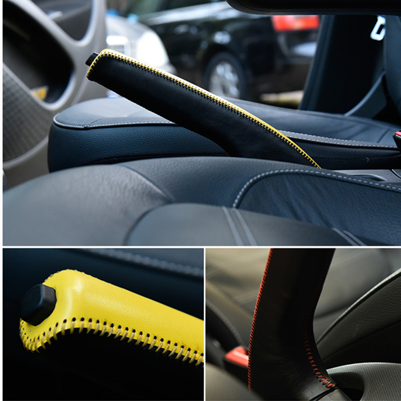 Auto Gear Lever Handbrake Cover For Mercedes New Smart Fortwo Forfour 453 Car Interior Trim Accessories Modification