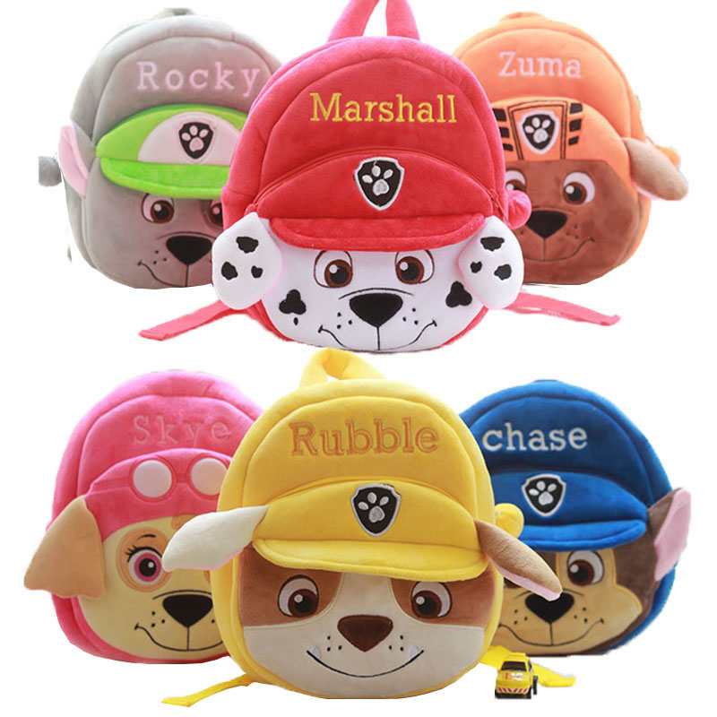PAW Patrol Plush Backpacks Stuffed Animals & Plush Toys Girls Boys Kindergarten Bag School Bag Birthday Christmas Gift