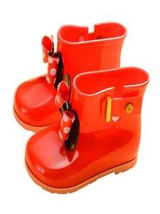 Boots Kids Rain-Shoes Rubber Waterproofrain Baby-Girls Children Dot Cute PVC Butterfly-Knot