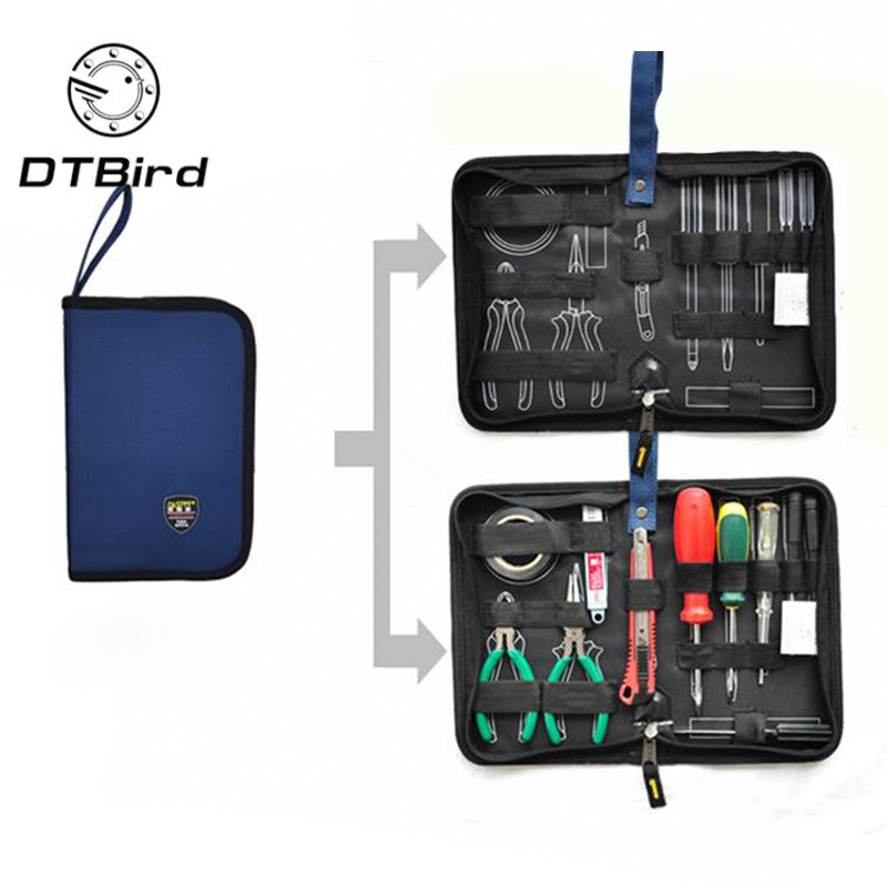 Professional Electricians Tool Bag Hard Plate Kit Tool Bag Set Storage Waterproof Multifunction Oxford Canvas