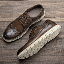 Men's summer casual shoes Size 7-13 WOOTTEN comfortable 2021light Brogues shoes men's leather sneakers #AL525