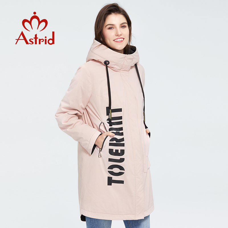 Astrid 2020 New Arrival Spring Fashion Length Women Coat Warm Cotton Jacket Fashion Parka High Quality Casual Outwear ZM-3021