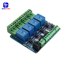 diymore Modbus RTU 4 Channel 12V Relay Output Board Module Switch Input RS485 / TTL Communication Module image