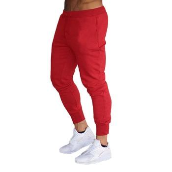 2019 New Men Joggers Brand Male Trousers Casual Pants Sweatpants Men Gym Muscle Cotton Fitness Workout hip hop Elastic Pants 3