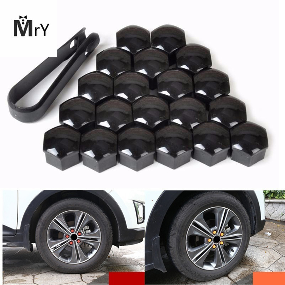 20pcs 17mm Tyre <font><b>Cars</b></font> Vehicles Tire <font><b>Wheel</b></font> Tyre Screw <font><b>Cap</b></font> Decorative Tyre <font><b>Wheel</b></font> <font><b>Nut</b></font> Screw <font><b>Bolt</b></font> <font><b>Car</b></font> Styling Dust Proof Protector image