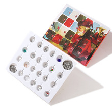 купить Christmas Countdown Calendar Women Girls Jewelry Advent Calendar 2019 DIY 24 Days Charms with Bracelet DIY Charms Set по цене 911.19 рублей