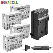 цена на Bonacell 7.2V 1400mAh NB-10L Batteries + Charger for Canon G1X G15 G16 SX40HS SX50HS SX60HS SX40 SX50 SX60 HS camera battery