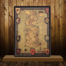 Game of Thrones Map Retro Kraft Paper Poster Interior Bar Cafe Decorative Painting Wall Sticker 42X35cm(China)