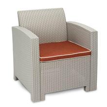 Открытый патио садовая мебель диван Серый Белый одиночный [us